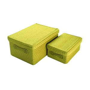 Sada 2 úložných košíků Versa Green