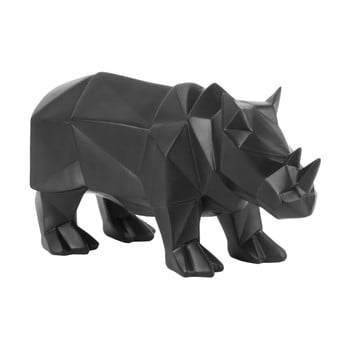 Statuetă PT LIVING Origami Rhino, negru mat