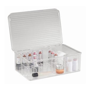 Organizér InterDesign Clarity Lipstick & Cosmetic Box, 27,5 x 18,5 x 9,5 cm