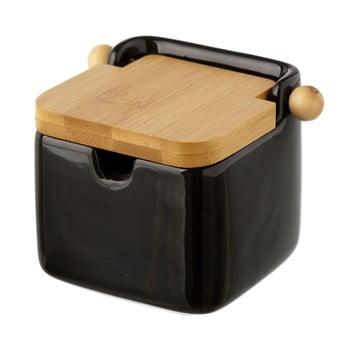 Recipient ceramic pentru sare Unimasa, 250 ml, negru imagine