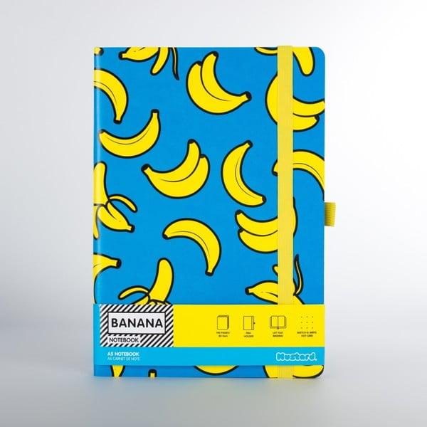 Agendă Just Mustard Banana, albastru, 190 file