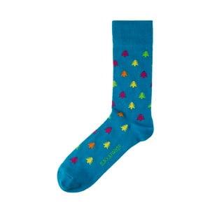 Modré ponožky Black&Parker London Plantation Garden, velikost 37 – 43