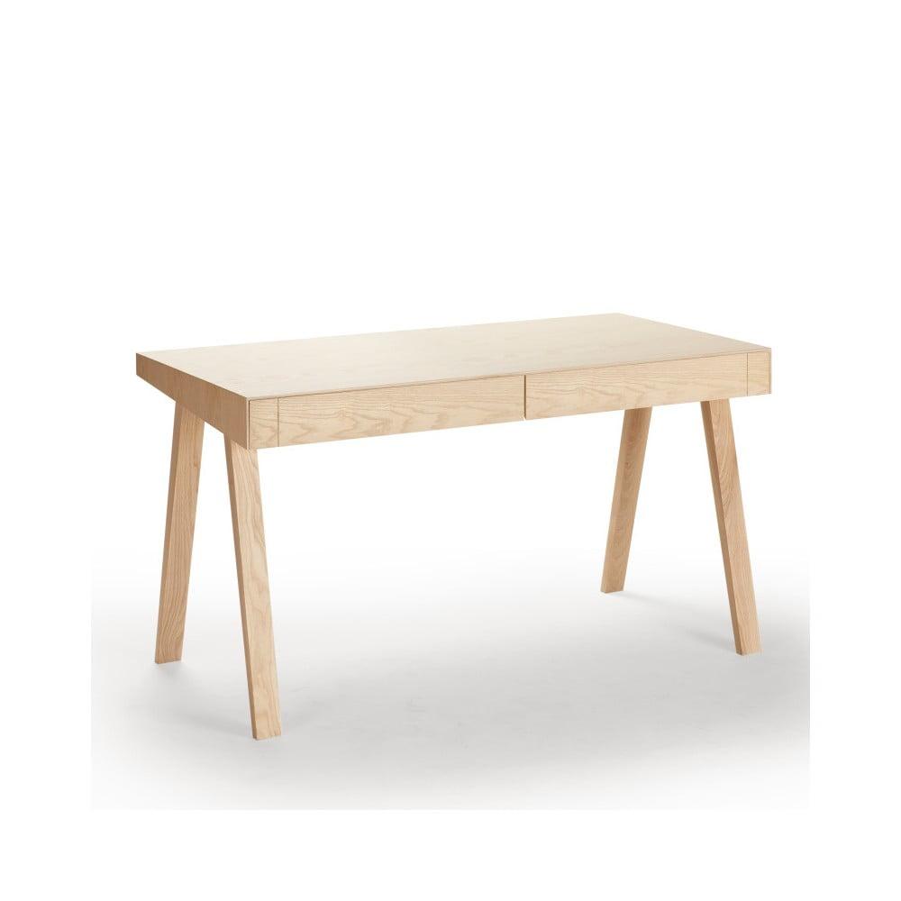 Psací stůl EMKO 4.9, 2 šuplíky, evropský jasan