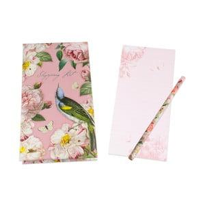 Zápisník na nákup s tužkou Botanique by Portico Designs, 128stránek