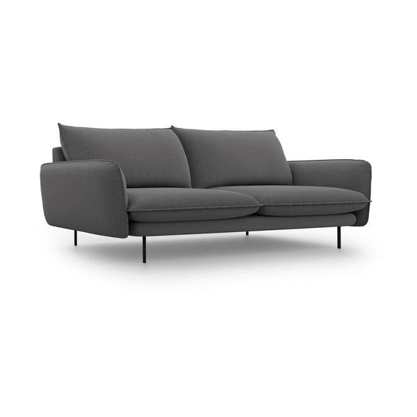 Tmavě šedá pohovka Cosmopolitan Design Vienna,šířka230 cm