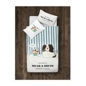 Dětské povlečení s prostěradlem Micah&Bruno, 100x150 cm