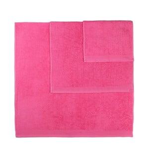 Sada 3 růžových ručníků Artex Delta