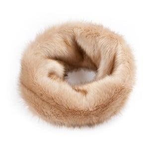Fular circular, blană, Andrew Beige