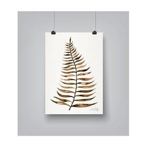 Poster Americanflat Leaf Sepia, 30 x 42 cm