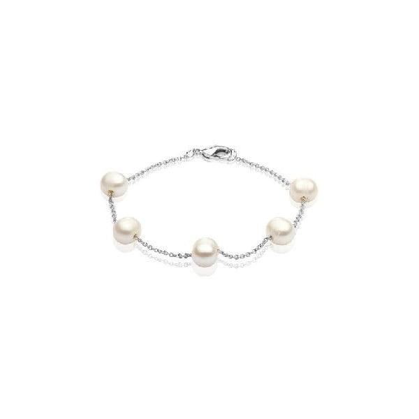 Náramek z říčních perel GemSeller Punctata, bílé perly