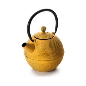 Žlutá litinová čajová konvička Top5star, 0,7 l