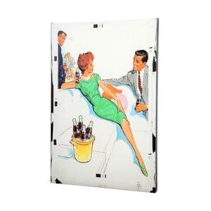 Plátno Retro Couple, 50x70 cm