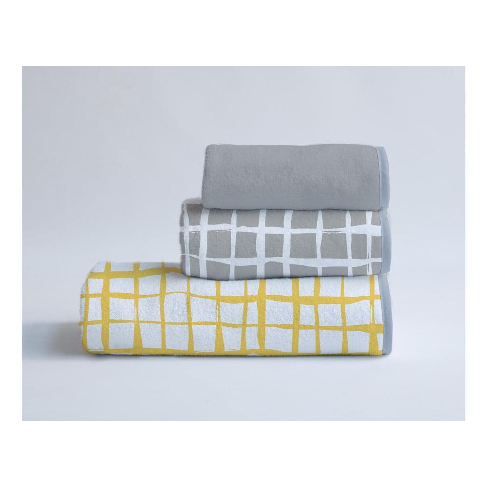 Sada 3 ručníků z bavlny a mikrovlákna Surdic Square