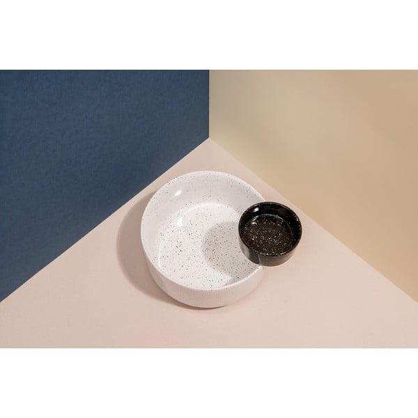 Set bílé misky a černé dózy na omáčku DOIY Eclipse, 23,4 x 20,4 cm