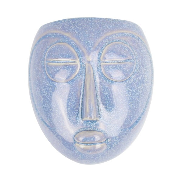 Niebieska doniczka ścienna PT LIVING Mask, 16,5x17,5 cm