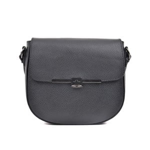 Černá kožená kabelka Luisa Vannini Vandoro