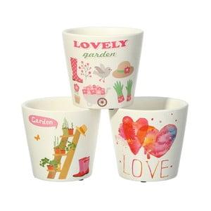 Sada 3 květináčů Ixia Love