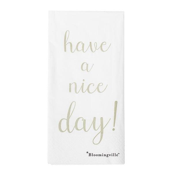 Sada 12 papírových ubrousků Bloomingville Nice Day, 40x40cm