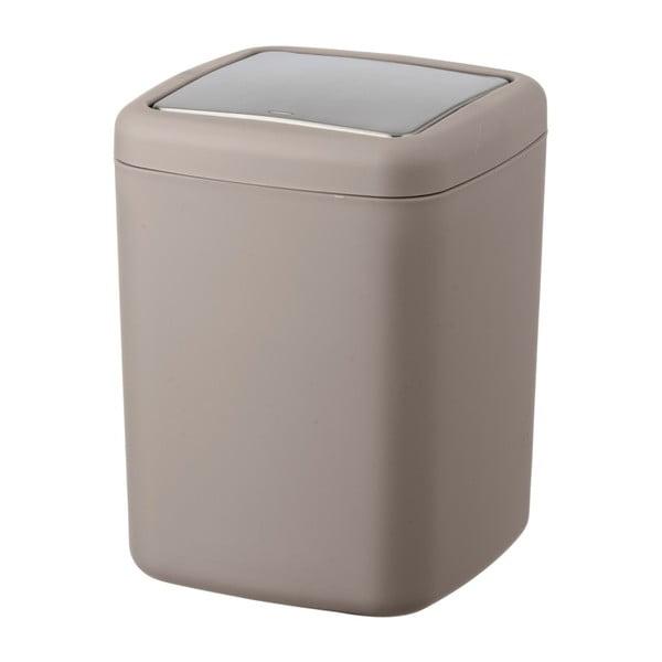 Hnědobéžový odpadkový koš Wenko Barcelona S, výška 20 cm