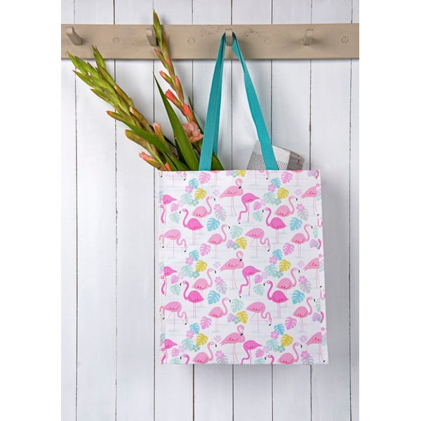 Nákupní taška z recyklovaných plastových lahví Rex London Flamingo Bay