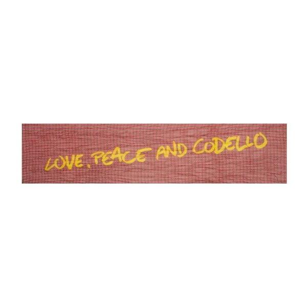 Šátek Poetry Grunge Peace Red