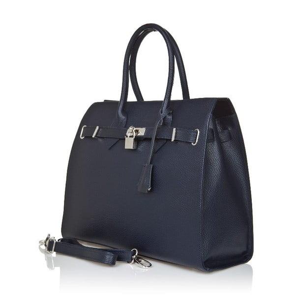 Tmavě modrá kožená kabelka Giorgio Costa Perugia