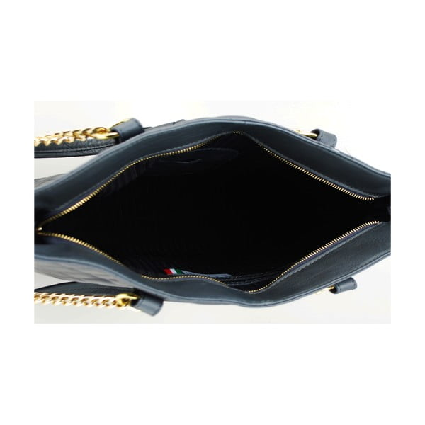 Kožená kabelka Vitello Black