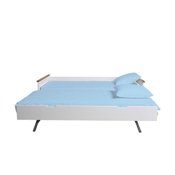 Bílá rozkládací postel Marckeric Lola, 90 x 190 cm