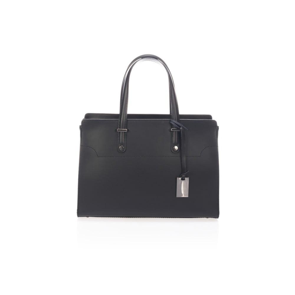 Černá kožená kabelka Giorgio Costa Prato