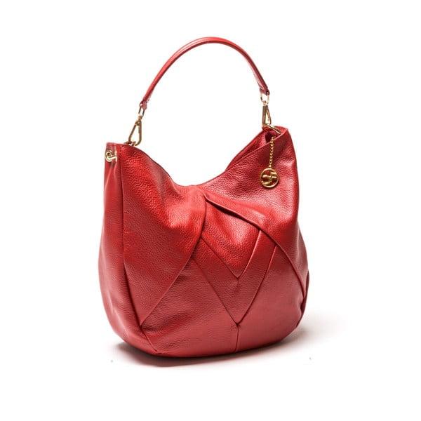 Kožená kabelka Fila, červená
