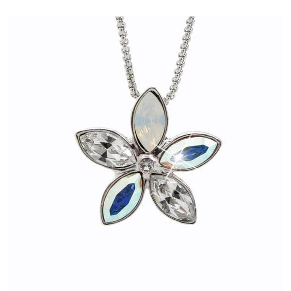Náhrdelník s modrými krystaly Swarovski® Yasmine Flower