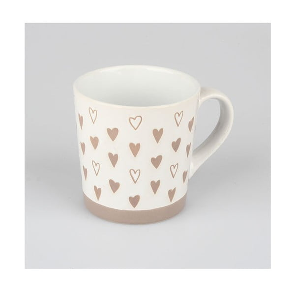 Cană din ceramică decorată manual Dakls Heart IV, 473 ml,