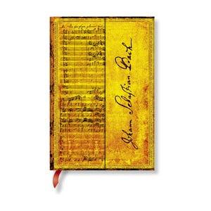 Zápisník s tvrdou vazbou Paperblanks Bach, 10x14cm