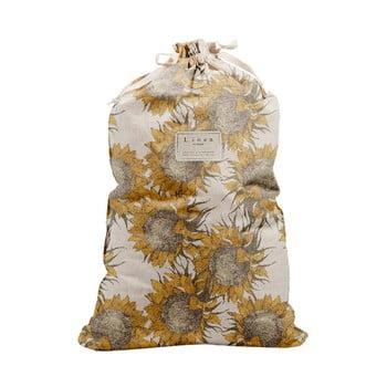 Sac Textil Pentru Haine Linen Couture Bag Sunflower, Inaltime 75 Cm
