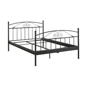 Černá dvoulůžková postel Støraa Bibi, 140x200cm
