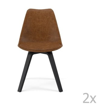 Set 2 scaune Tenzo Gina, maro de la Tenzo