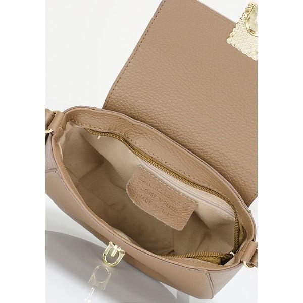 Kožená kabelka Lisa Minardi 5928 Fango