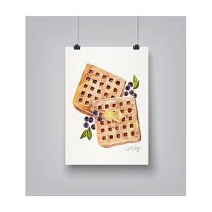 Poster Americanflat Blueberry Breakfast Waffles, 30 x 42 cm