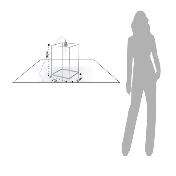 Šedivá stolní lampa Tomasucci Stick, 36x25x25cm