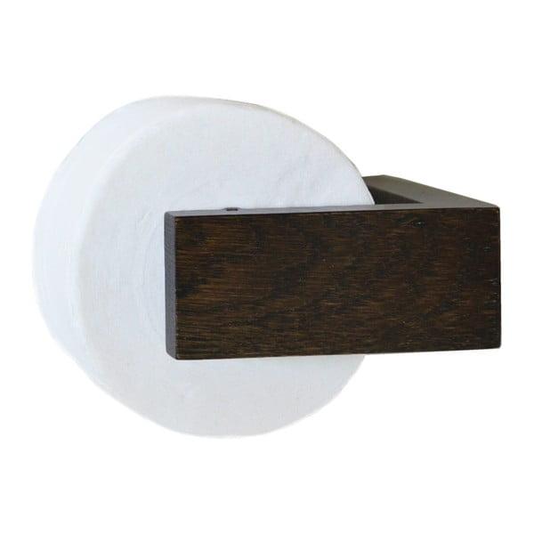 Dřevěný nástěnný držák na toaletní papír Wireworks Mezza Dark