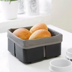 Černošedý košík na chleba Steel Function Roma