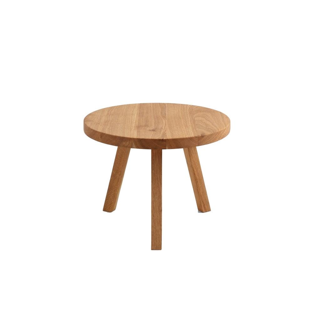 Odkládací stolek z dubového masivu Custom Form Treben, ø 60 cm