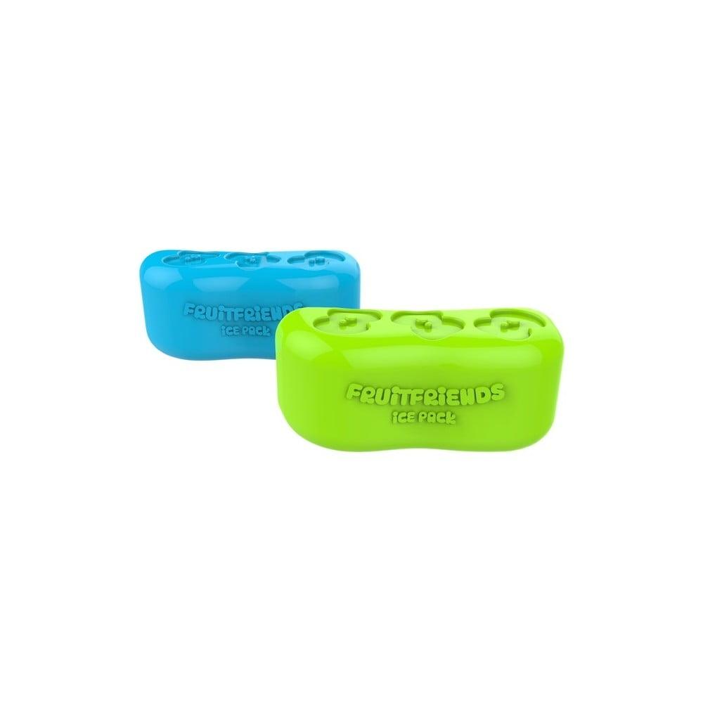 Chladící kostka do svačinového boxu v limetkové barvě Ice Pack Cube Fruitfriends