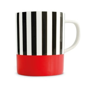 Hrnek z kostního porcelánu Remember Black Stripes, 330 ml