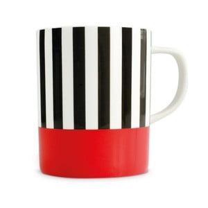 Hrnek z kostního porcelánu Remember Black Stripes, 330ml