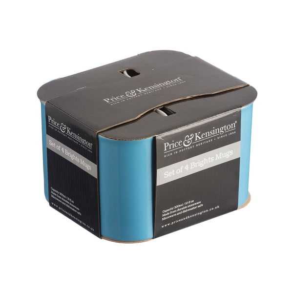Set 4 căni Price & Kensington, 300 ml, albastru
