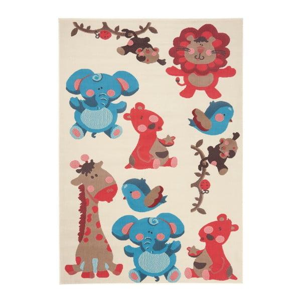 Dětský červenohnědý koberec Zala Living Animals, 140x200cm