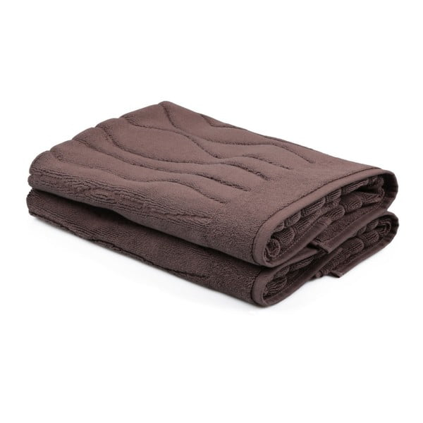 Sada 2 hnědých ručníků ze 100% bavlny Gartex, 50x75cm