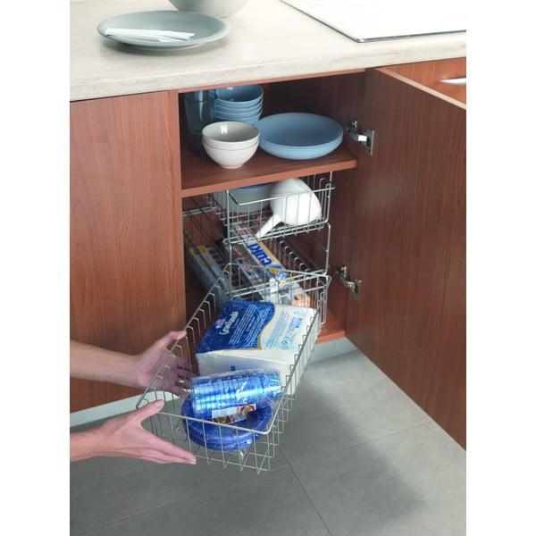 Přídavná trojpatrová poličky do kuchyňské skřínky Metaltex Limpio