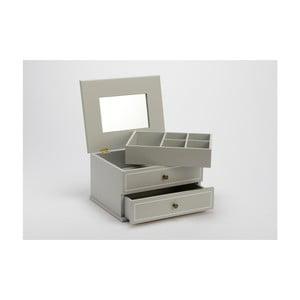 Cutie pentru bijuterii cu oglindă Amadeus, gri